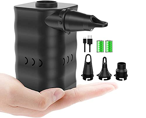 Morpilot Pompa d Aria Elettrica Senza Fili, USB Ricarica, 3 Aria Ugello, Gonfiare Sgonfiare zattere gonfiabili, Anelli di Nuoto, divani gonfiabili, palloni per Yoga