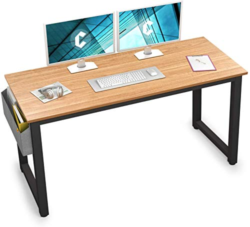 Cubiker Computer Desk 63' Modern Sturdy Office Desk Large Writing Study Table for Home Office with Extra Strong Legs, Natural