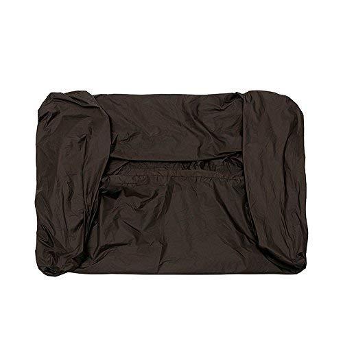 81x44x47.5 Pulgadas Tela de poliéster negra Impermeable Cubierta de cortacésped de giro cero