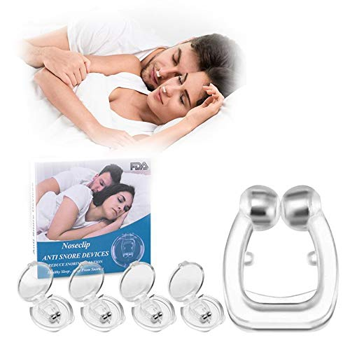 Dispositivos Antirronquidos, 4 PCS Anti Ronquidos Soluciones de Silicona Clip Magnético Antirronquidos Nariz, Dejar de Roncar Cómodo Ayuda para Dormir Aliviar Ronquidos para Hombres Mujeres