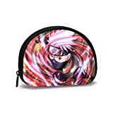 Naruto Cartoon Hatake mujeres hombres moda cartera portátil Shell almacenamiento bolsa joyería bolsa titular de la llave auriculares multifunción bolsas