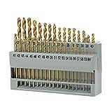 Kit de brocas helicoidales de acero de alta velocidad de 1-5,79 mm de alta dureza 60 piezas para madera de aluminio