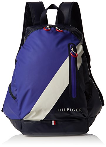 Tommy Hilfiger Herren Block Story Backpack Rucksack, Blau (Tommy Navy), 18x45x38 cm