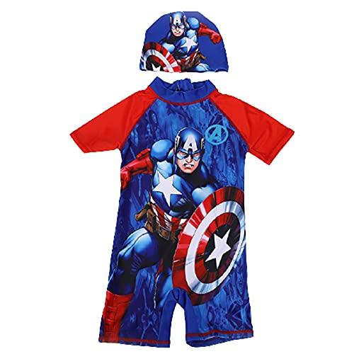 Barn Baddräkt Spiderman Andningsbara Badkläder Sandstrand Solsäkra Baddräkter Unisex Snabbtorkande Baddräkt Mode Digitala Tryck Badklänningar