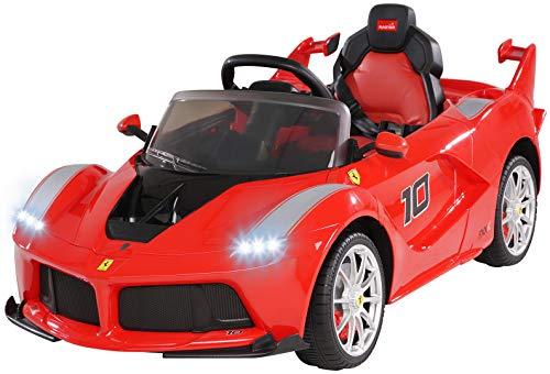 Actionbikes Motors Ferrari LaFerrari - Lizenziert - 2 x 25 Watt Motor - Reifen mit Weichgummiring - Fernbedienung - Ledersitz
