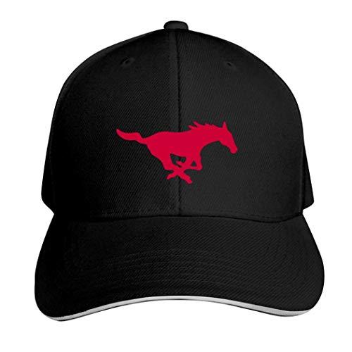 SMU Mustangs Football Casquette Hat Neutral Verstellbar Truck Driver Cap, Herren, 457PMA5-VB8-F8C, Schwarz , Einheitsgröße