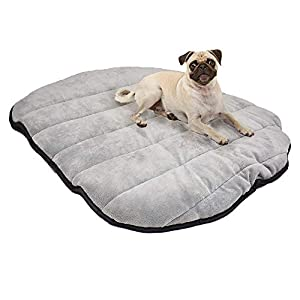 Max and Neo Travel Dog Bed 39″ x 30″ Fluffy Lightweight Portable Pet Mat with Carry Bag – We Donate One for One for Every Product Sold