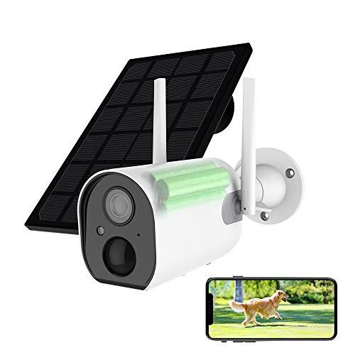 HiKam R8 15000mAh Akku Überwachungskamera Außen mit Solarpanel, 1080P Kabellos Wiederaufladbare WLAN IP Kamera mit Personenerkennung, Nachtsicht, IP66 wasserdicht, 2-Wege-Audio, SD-Kartensteckplatz
