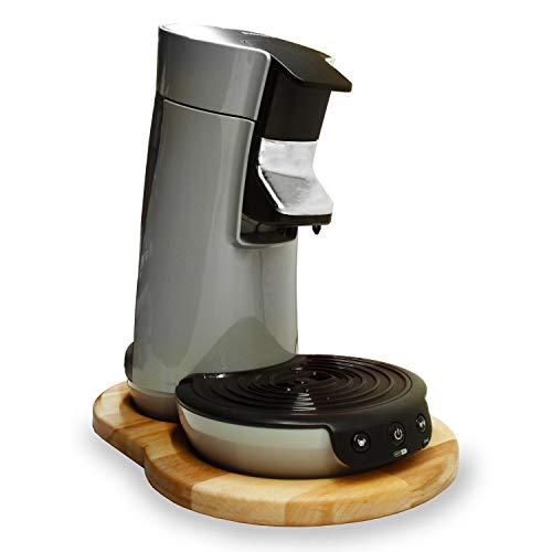Streambrush Holz Unterlage (Ein echter Hingucker) - Gleitbrett & Ständer für Senseo Viva Kaffeepadmaschine I Perfekter Untersetzer aus massiven Buchenholz Typ Charlie