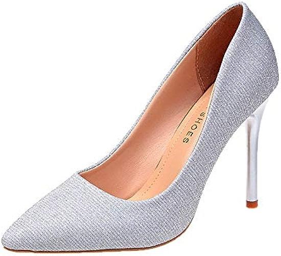 HOESCZS Talons Hauts Filles Chaussures Simples Femme Printemps Nouvelle Mode Stiletto Sauvage Noir Petits Talons Frais Femmes