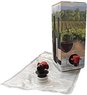 1.5L Red Wine Bag-In-Box Kits [Eco-Friendly Wine Bottle Alternative] - Easily Bottle & Store Your Wines - Perfect For Home Winemakers & Wineries (3 pack of 1.5L Red Wine Bags & Boxes)