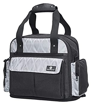 Baby Benjamin Diaper Bag Backpack Tote with Insulated Bottle Pockets Black