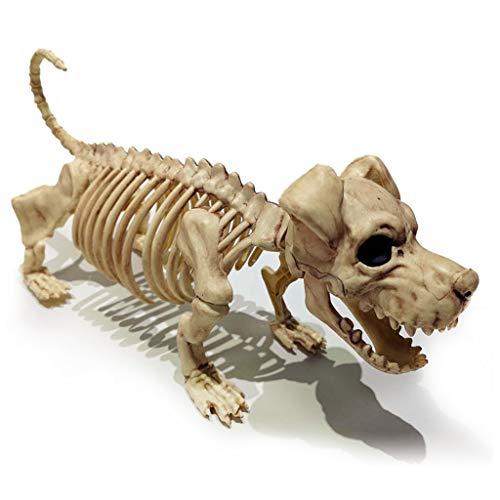 Adornos de fiesta temática de Halloween para esqueleto de pie, escena horrible accesorio para divertirse en casa
