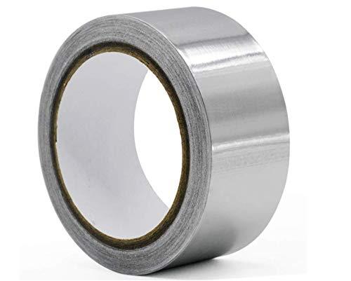 Hitopin Nastro in Alluminio,1 Pezzo 50m x 50mm Nastro Adesivo in Alluminio, Resistenza Alle Alte Temperature, Utilizzato per Riparazioni, Sigillature, Ecc. (Argento)