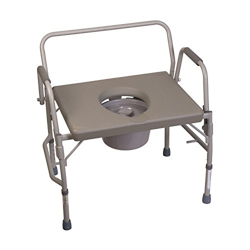 Duro-Med Commode Chair, Heavy-Duty Steel Commode