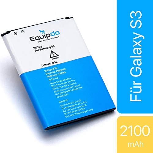 Equipdo Ersatzakku kompatibel mit Samsung Galaxy S3 - Akku auch für Neo, LTE und GT-i9300 - Ersatz für Batterie EB-L1G6LLU (Nicht für Mini)