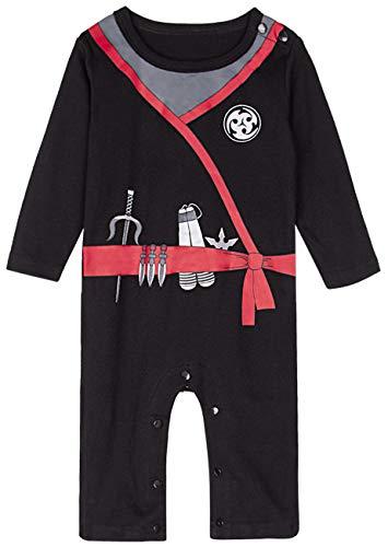COSLAND Baby Boys' Halloween Costume Ninja Romper (3-6 Months, Ninja)