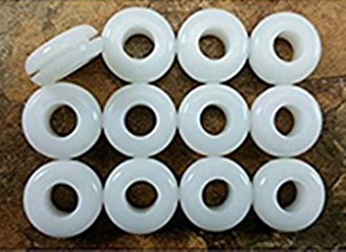 20 Stück Lebensmittelqualität BPA-frei Gärung Airlock Tülle für selbstgebrautes Bier Met Wein Fermenter Deckel weiß