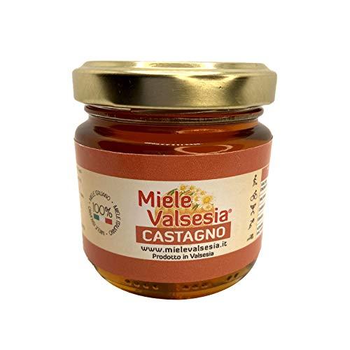 Miele Castagno Naturale Da Agricoltura Biologica Naturale - Valsesia - 2 x 500 gr - Made in italy - Senza Conservanti - Naturale e Sano