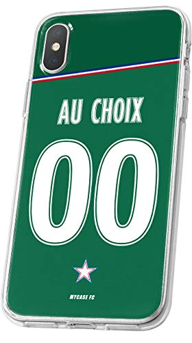 MYCASEFC Coque Saint-Etienne iPhone 5//5S//SE Foot Personnalisable Silicone nom et num/éro