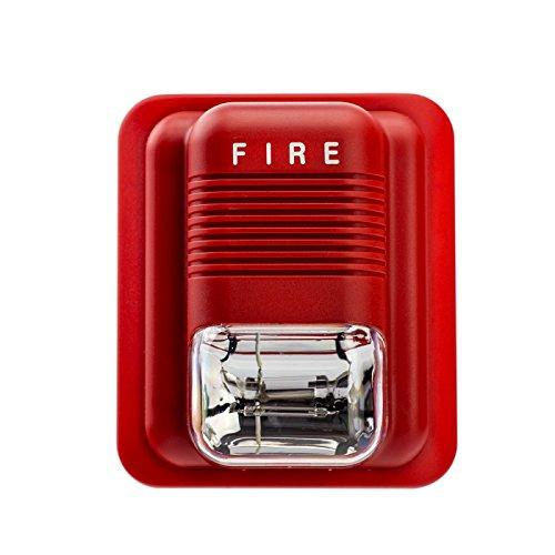 Alarm Sirene PE-514D mit 100 db Alarm ersetzt Ihre alte Sirene Zubehör für Alarmanlage PG100 PG500 PD906 und alle Anderen 433 MHz Anlagen, Siren Blitz Alarm Sicherheit