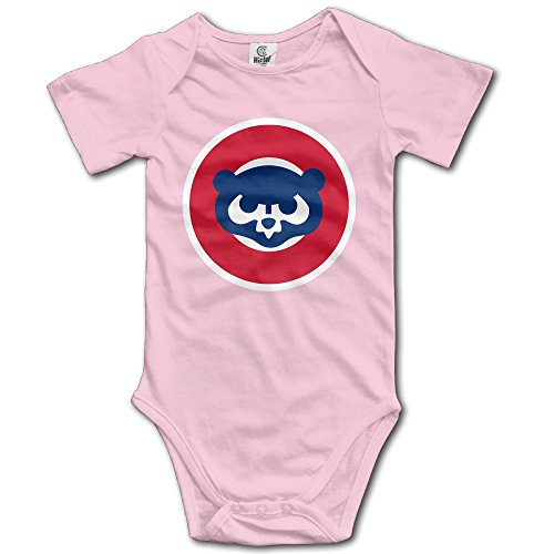 Annabelle Infants Boy's & Girl's CHC Cub Short Sleeve Bodysuit Outfits For 6-24 Months Pink 18 Months