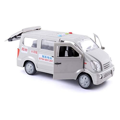 LINANNAN Churn's Trucking Van Transport Transport Camión Bebé Bebé Inercia Herramienta Modelo de automóvil Modelo Sonido y Luz Puerta de Tres Puertas Se Pueden Abrir Hobbies de los niños (Color: a)