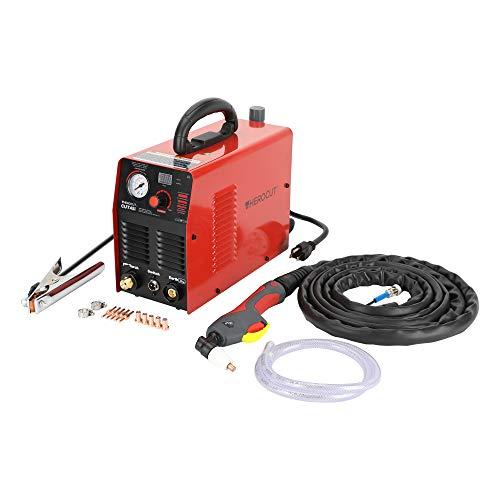 Plasma Cutter, CUT45 40Amp High Frequency 50/60Hz IGBT Inverter Air Plasma Cutting Machine Max Cutting Thickness 10mm (CUT45 110V)