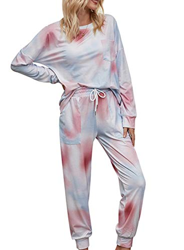 CORAFRITZ Womens Casual Colorful Tie Dye Sleepwear Loose Fit Nightgown Soft Long...