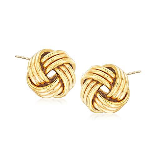 Ross-Simons 14kt Yellow Gold Love Knot Earrings