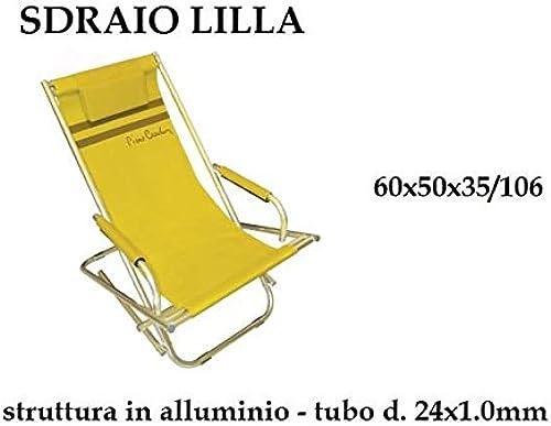 precios razonables C&C Spiaggina Relax con cojín playa playa jardín jardín jardín 60x 50x 35aluminio prc608  promociones