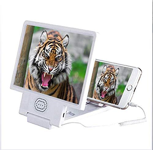 YOLE 8,5-Inch Pantalla 3D Lupa, Altavoz de Altavoces Smartphone Lupa, Lupa Triple...
