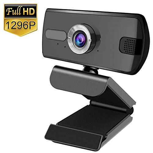 Lemnoi Webcam FHD 1296P, Webcam PC con Microfono e Webcam USB, Supporta Videochiamate Widescreen e Registrazione Conferenze, Utilizzate per Videochiamate, Apprendimento, Conferenze, ECC
