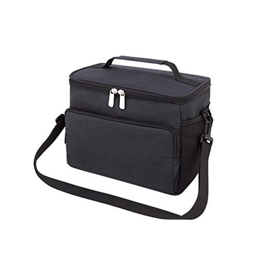Mittagspause Mittagessen Beutel, Mittagessen Beutelfolie, Dicke Eisbeutel, Portable Thermotaschen Schwarz Mittagessen Tasche. Picknick-Kühltasche