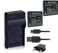 NinoLite 4点セット DMW-BCE10 互換 バッテリー 2個 +USB型 充電器 +海外用交換プラグ dc68dmwbce10x2_t.k.gai