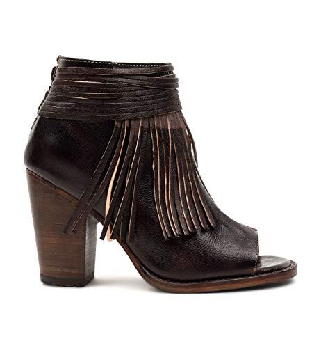 BED STU Women's Olivia Heeled Sandal, Brown Rustic, 8 M US