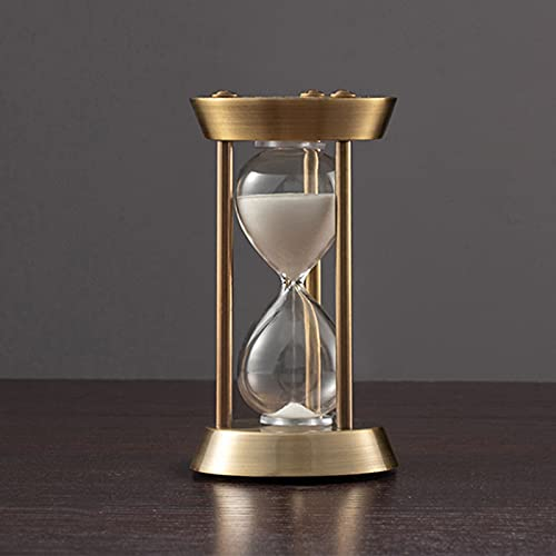 HDDH Reloj de Arena de Metal Temporizador1/3/5/10 Minutos,Color Bronce Relojes de Arena Asistente de gestión del Tiempo,Aula decoración de la Oficina Regalo Creativo