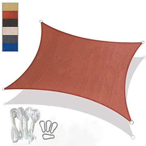YFFS Sun Shade Sail Garden White Impermeable UV Sun Protective Screen Refugio...