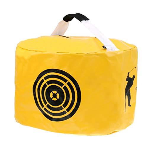 Amazingli Golf Impact Power Smash Bag Hitting Bag Swing Training Aids Waterproof Durable (Yellow)