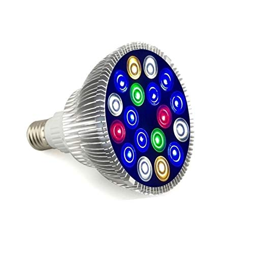 WML-LAMP Super helder energiebesparend licht van het volledige spectrum LED van aquariumlampengroei-aquarium aquarium, Color A, Sliver Shell.