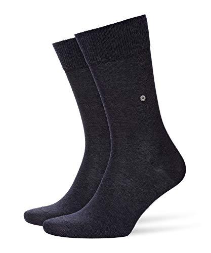 Burlington Herren Lord M SO Socken, Blickdicht, Grau (Anthracite Melange 3081), 40-46 (UK 6.5-11 Ι US 7.5-12)