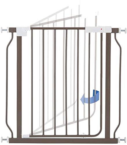 Stair gates Pressure Fit Safety Metal Gate Stands 72cm tall Width Adjustable 72-162cm Extra Wide Pet Gate baby gate Garden Guardrail (Color : Brown, Size : 142-148cm)