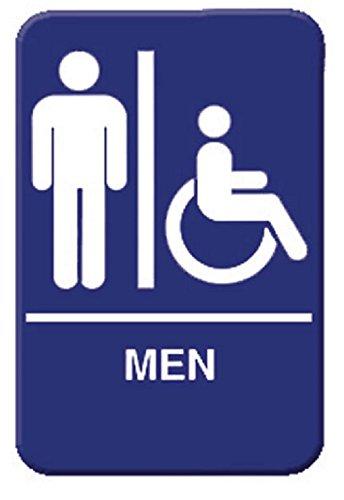 """ MEN "" information directional sign - signs - door- business - restaurant - office- plastic- commercial - warning - entrance- bathroom - restroom - women - gender 6""x9"""