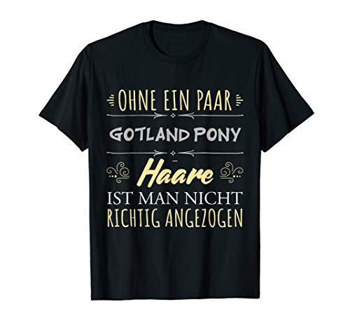Pferdehaare Pferdespruch Reiterin Geschenk Gotland Pony T-Shirt
