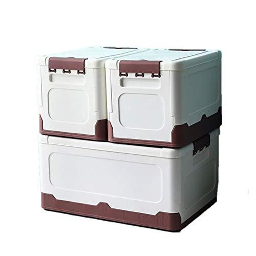 WUHE Cajas de almacenaje Ropa Cajas de almacenaje de Almacenamiento contenedores con Tapa Gruesa Tela for edredones, Ropa de Cama, Plegable Medio / 3pack decoración Caja de almacenaje