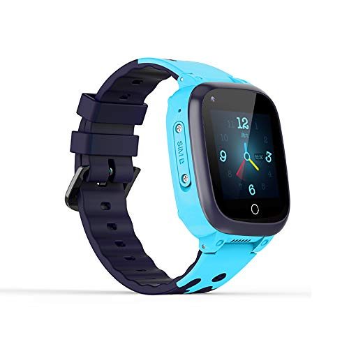 Reloj inteligente para niños y niñas, 4G WiFi GPS LBS Tracker, reloj móvil videollamadas chat niños Smartwatches, alarma impermeable IP67 podómetro termómetro
