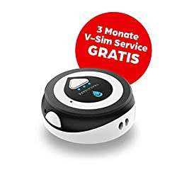 V by Vodafone V-Multi Tracker in Partnerschaft mit Trackimo Mini, A Tasche, Rucksack, Gepäck, Laptop und Key GPS-Tracker