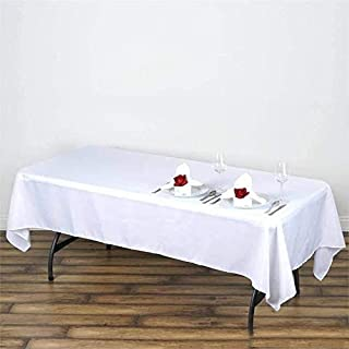 LinenTablecloth 60 x 102-Inch Rectangular Polyester Tablecloth White (White, 2)