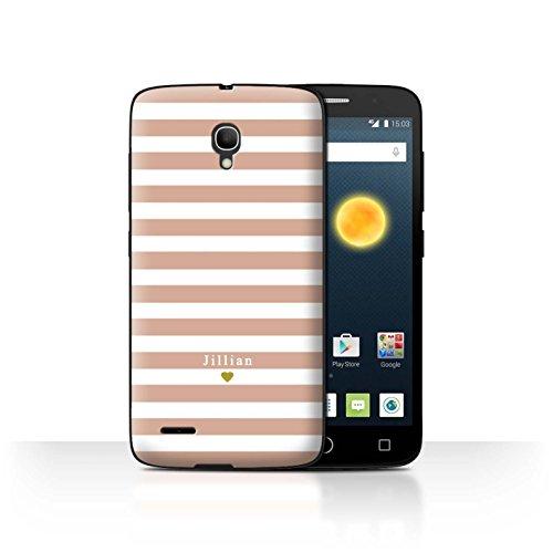 Stuff4Phone Case/Cover/Skin/alcpop25/Custom Stripes/Striped Collection Coeur Rose Nu