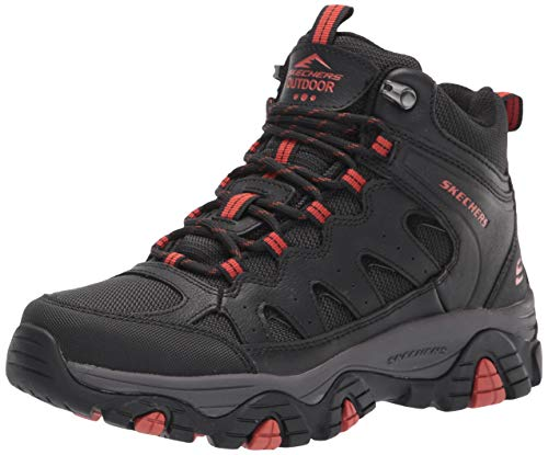 Skechers USA Men's mens Hiking Boot, Black, 13 US